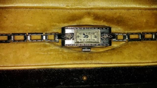 Bulova watch Miss Liberty 1933 2 diamonds 6-29-13
