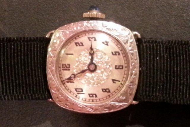 1921-23 Bulova W Co.14K white gold 15 jewelloriginal band