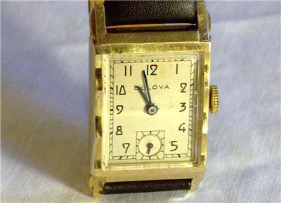 1947 Bulova 10k Gold 7AK