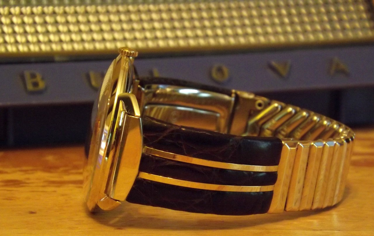 Bulova watch, side view
